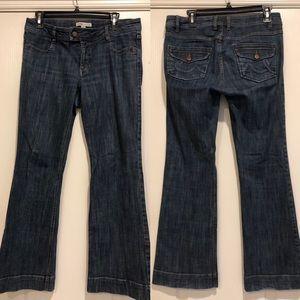 CAbi Jeans size 6 style 178R dark wash
